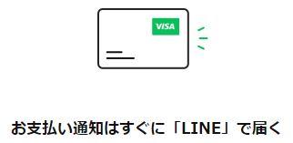 カード、チャージ&ペイ利用後にLINEでお知らせ!