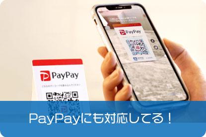 PayPay利用もOK!