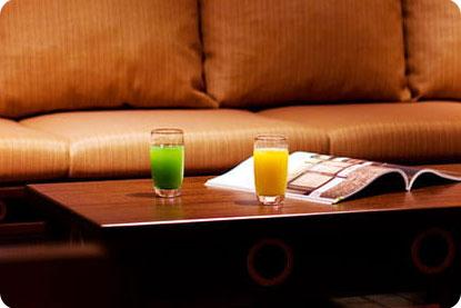 クラブサビーラウンジでジュースとコーヒー飲めちゃう!