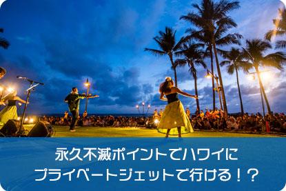 永久不滅ポイントでハワイにプライベートジェットで行ける!?