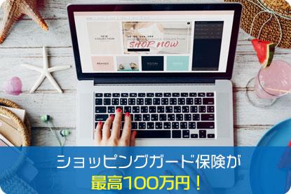 ショッピングガード保険が最高100万円!