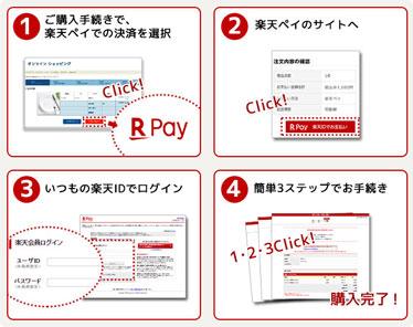 ネット注文なら楽天ペイのネットで支払いが可能